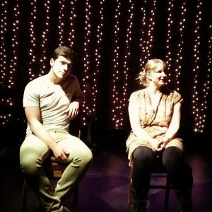 Nathan Brown and Heather Kellogg in RAT GIRL.