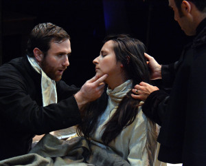 Nick Trengove and Kitty Torres in THE CRUCIBLE.