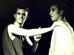 Jeff Stryker and Josh Galyen in Quicksilver's LYSISTRATA.