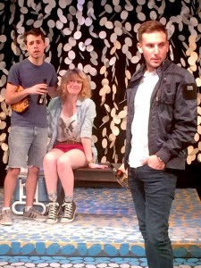 Josh Padilla, Erin Ison, and Andrew Opatkiewicz in the Pacific Play Company production.