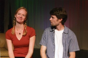 Lisa Swanson and Aaron Begg in the No Nude Men production.