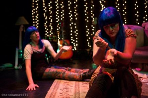 Allison Fenner and Heather Kellogg in the DIVAFest production. Photo by Serena Morelli.