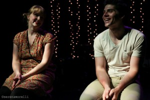 Heather Kellogg and Nathan Brown in the DIVAfest production. Photo by Serena Morelli.
