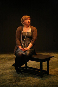 Kirsten Broadbear in the No Nude Men production.