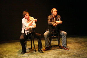 Ryan Hayes and Andy Strong in the No Nude Men Production.