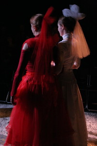 Maura Halloran and Valerie Wagenfeld in the Woman's Will production.