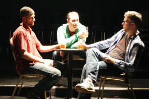 Ben Kruer, Kai Morrison, Ryan Hebert in the No Nude Men production.