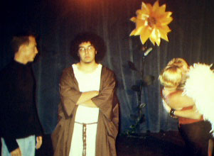 Nick Sheldon, Steve Cruz, Abby Midgette, and Jay Middleton in the Quicksilver Production.